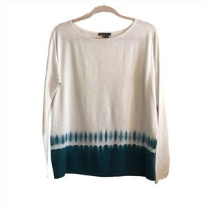 Vince Ombre Tie Dyed Long Sleeve Knit Shirt